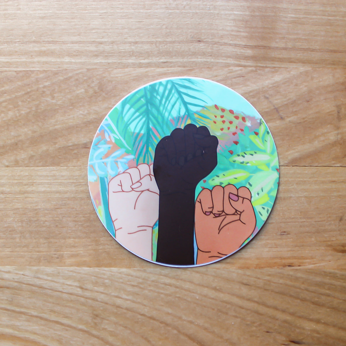 Sticker Support Equal Rights for all women - Christmas Gifts Under 5 - Fists - Feminist