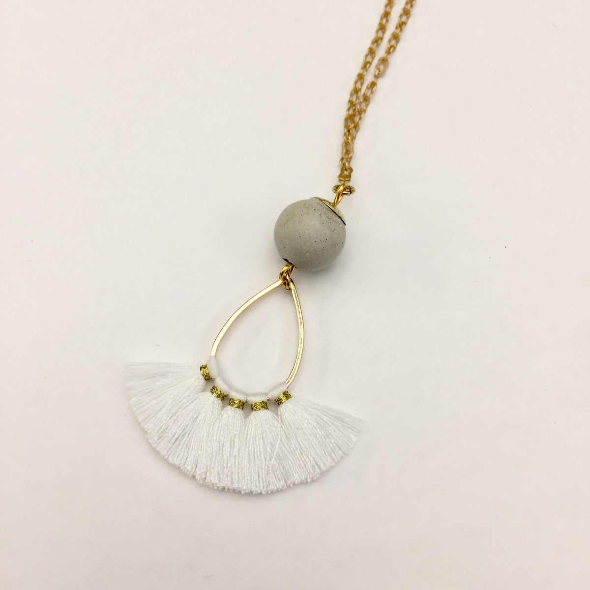 Concrete Tassel Necklace
