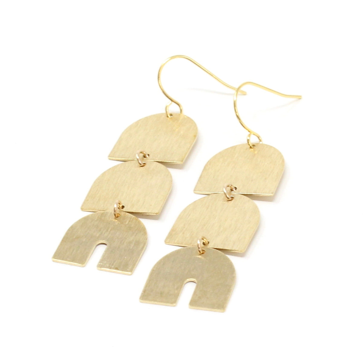 Kirk - long gold-brushed earrings