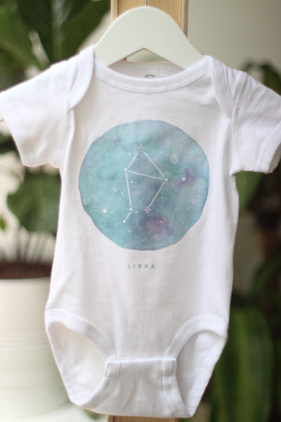 Onesie - Zodiac Sign - Libra Constellation Baby Bodysuit