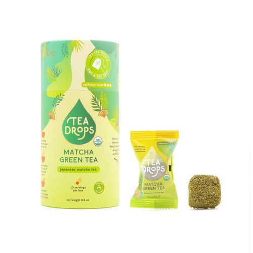 Matcha Green Tea Tea Drops - Compostable Container