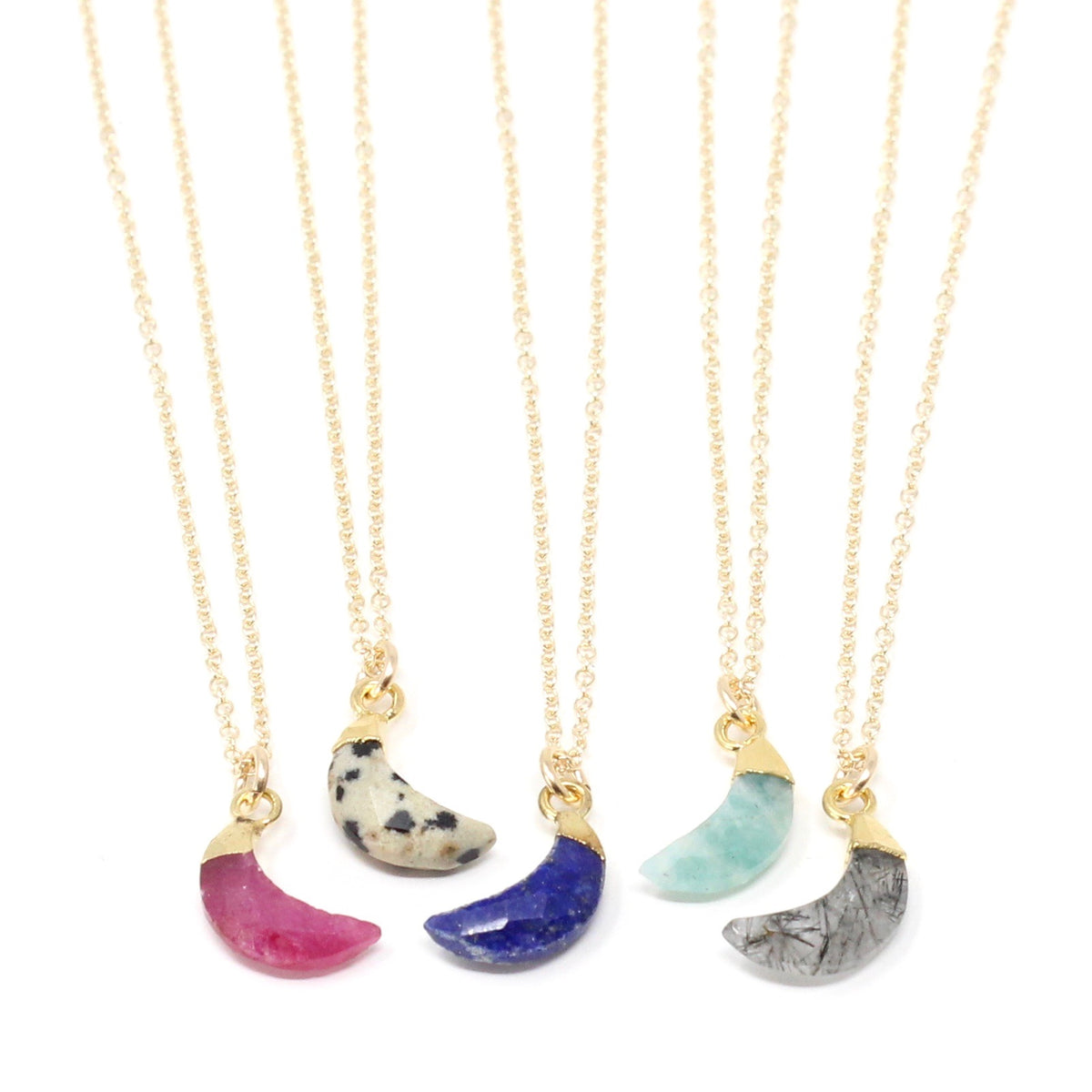 Moon Bezel - XS gemstone necklace