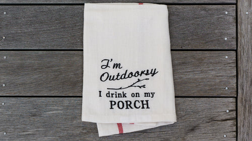 I'm Outdoorsy Tea Towel
