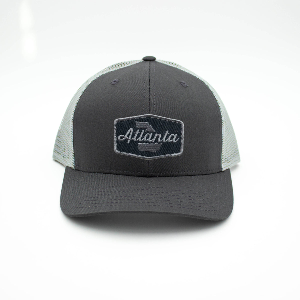 ATLANTA PATCH TRUCKER HAT - CHARCOAL/GRAY