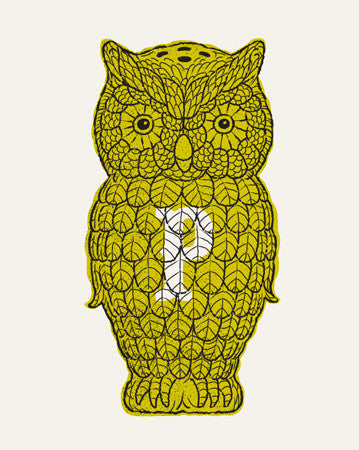Yellow Owl Pepper Shaker Screen Print