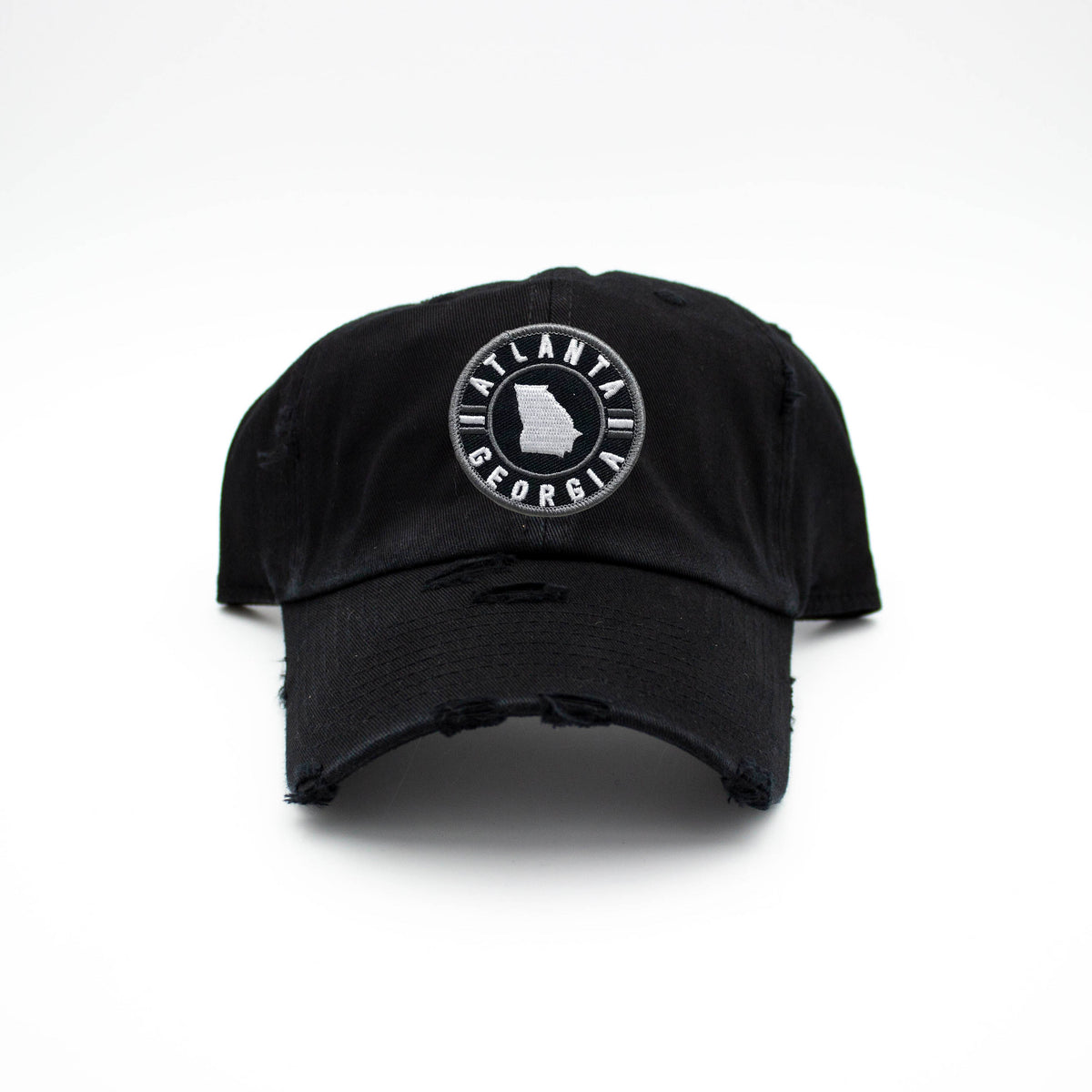 ATLANTA GEORGIA STATE PATCH HAT - BLACK