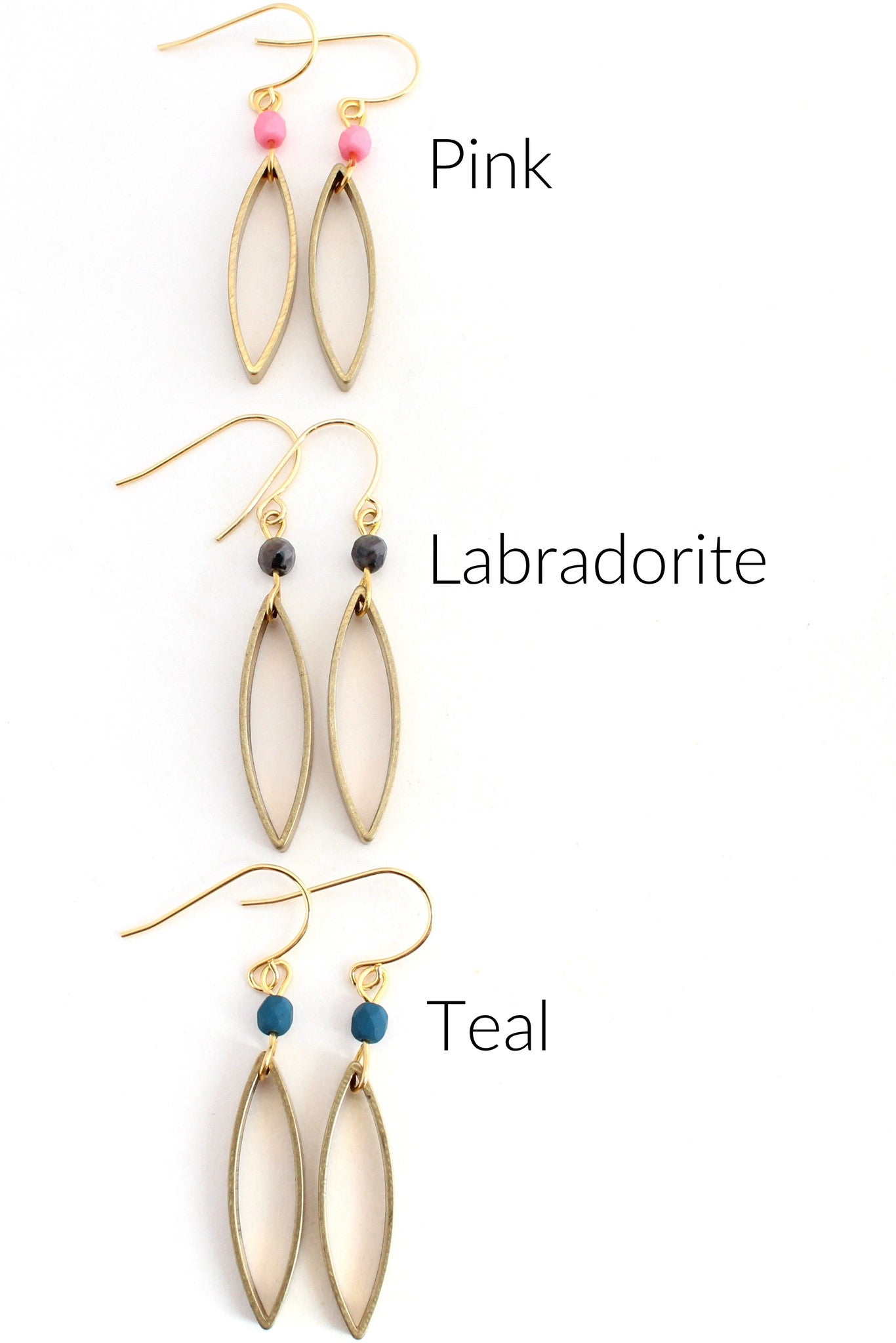 Paolo -- ellipse and gem earrings