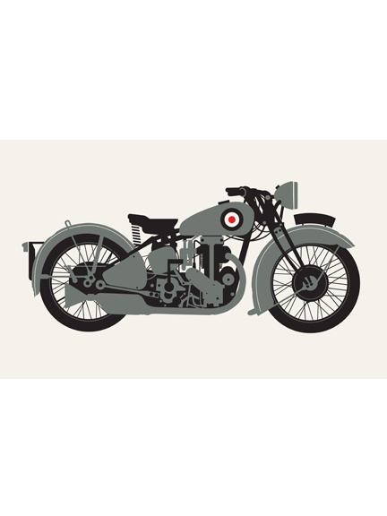 Motorcycle, Grey