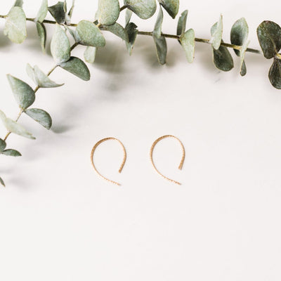 Sparkle Loop Earrings - Small