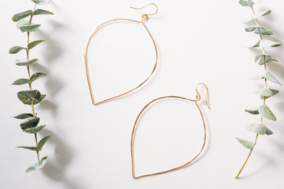 Stella XXL Drop Hammered Earrings - GF
