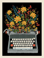 Flower typewriter
