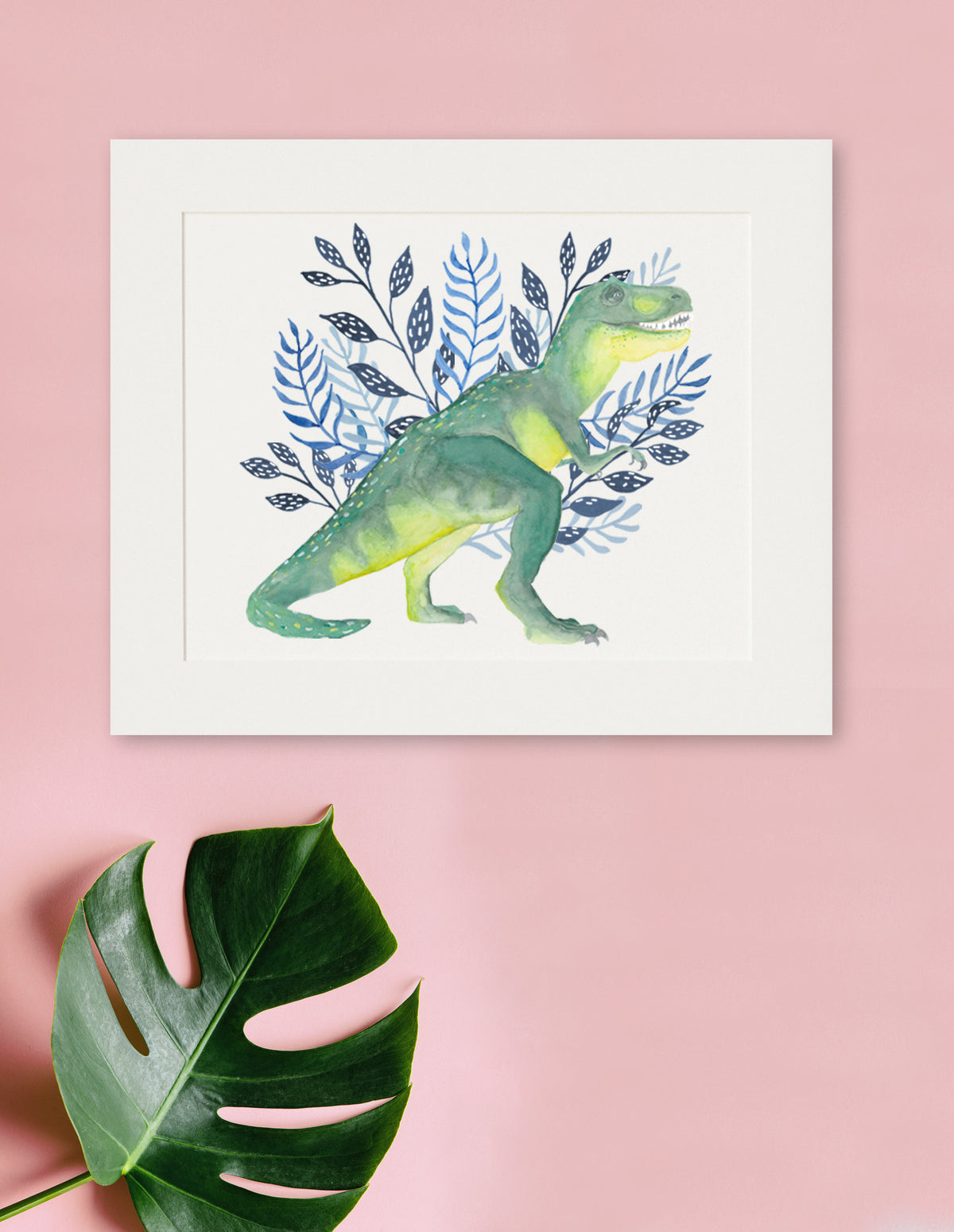 Dino - T-Rex Watercolor Print - Dinosaur Art