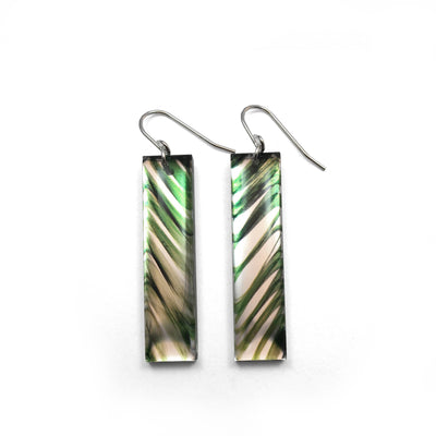 Black Drop Designs - Mirror Tall Palm Two Earrings