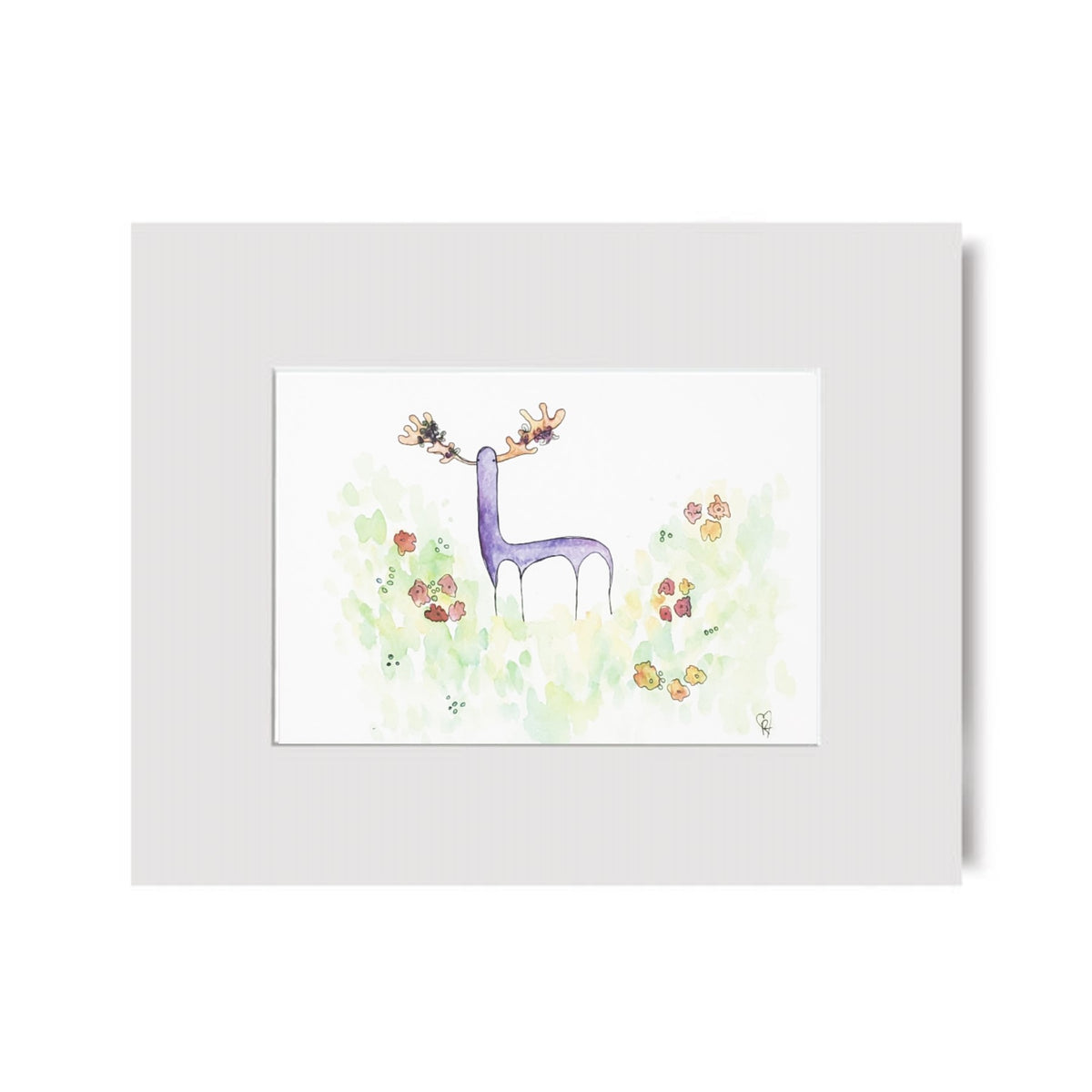 Purple Deer art print