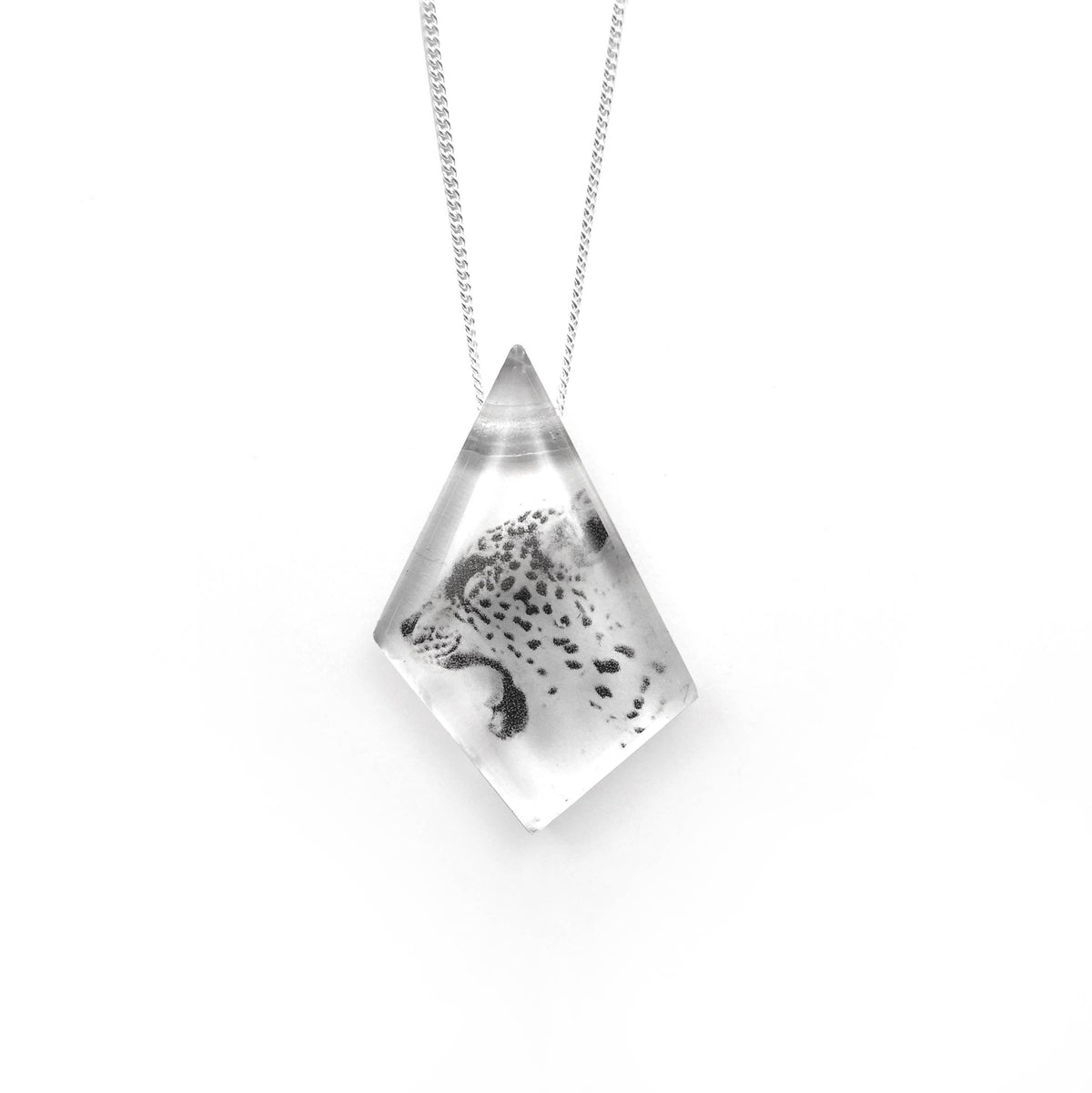 Black Drop Designs - Geo Cheetah Necklace