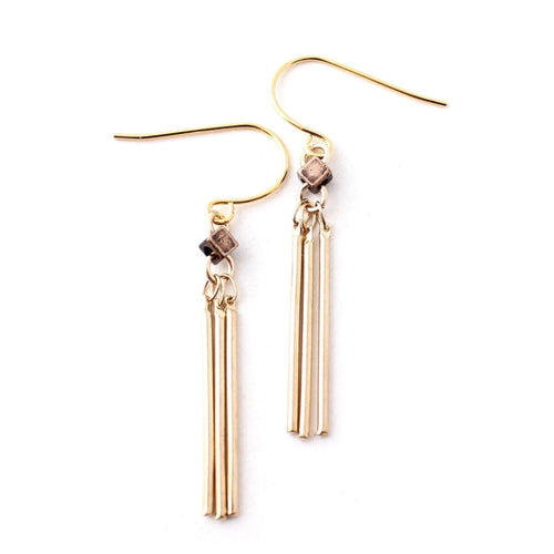 Basin -- gold dangle earrings