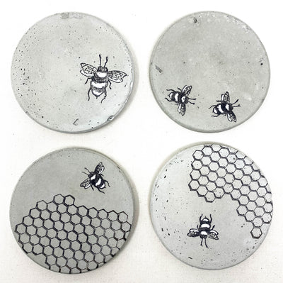 Bee Concrete Coasters