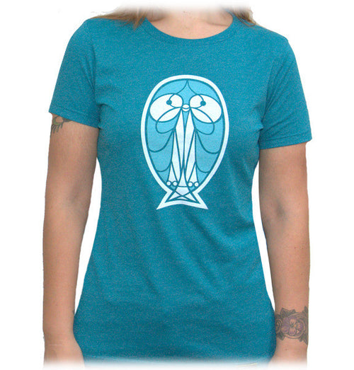 Pretty bird women's screenprinted shirt