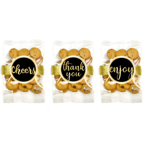 Celebration Black and Gold Chocolate Chip Cookie Grab Bag Assortment