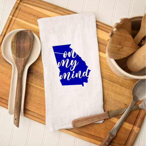 Tea Towel - Georgia Blue On My Mind