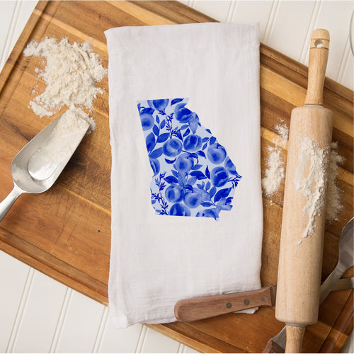 Tea Towel - Georgia Blue Peaches
