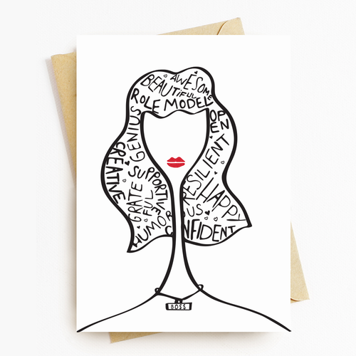 """Boss Lady"" Motivational Greeting Card"