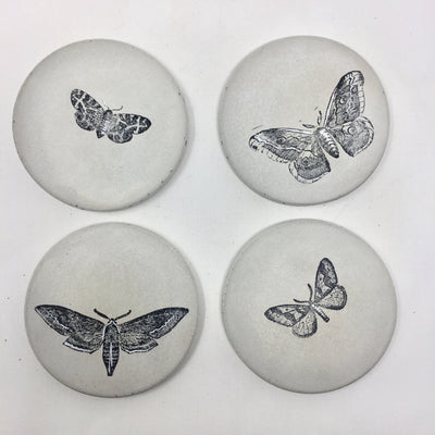 Butterfly Concrete Coasters