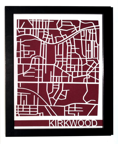 Kirkwood Neighborhood Paper Cut Map