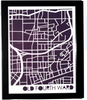 Old Fourth Ward Neighborhood Paper Cut Map