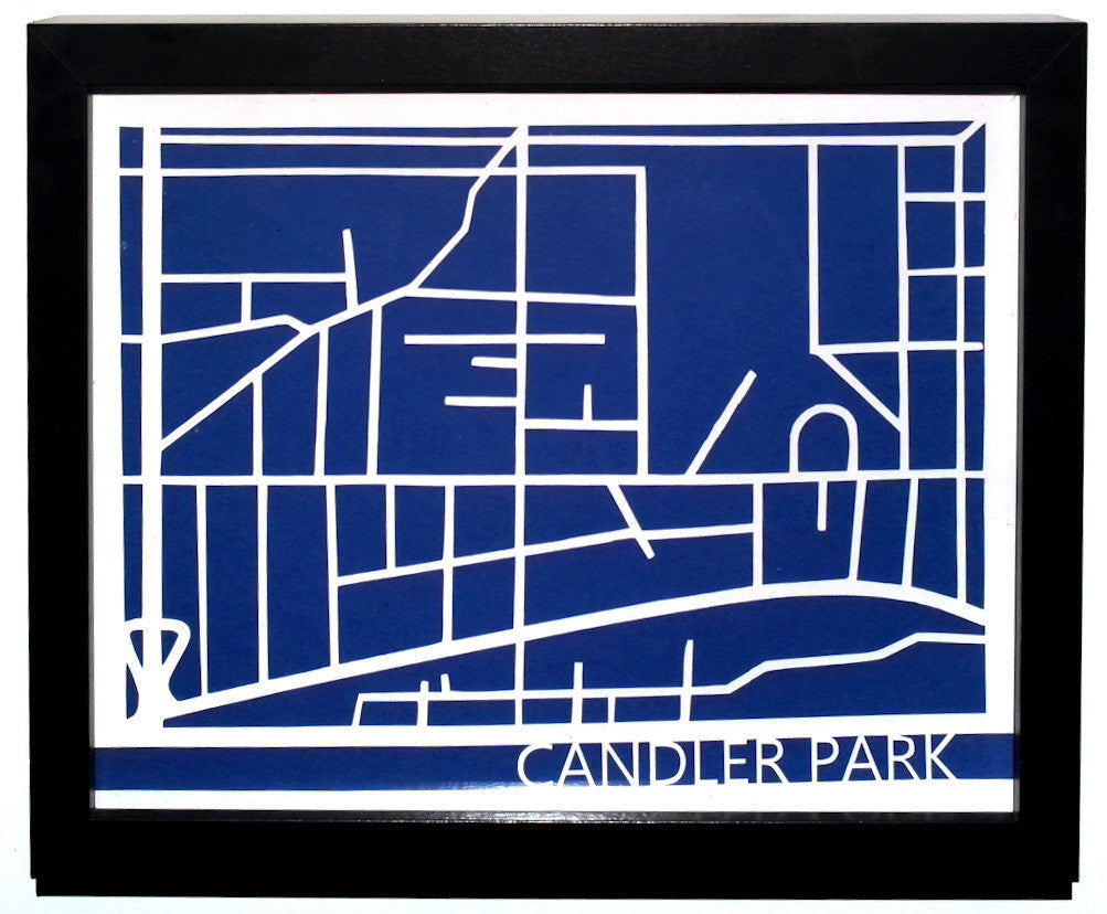 Candler Park Neighborhood Paper Cut Map