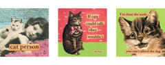 "magnet set by ian nicholas - ""Cat Lovers"""