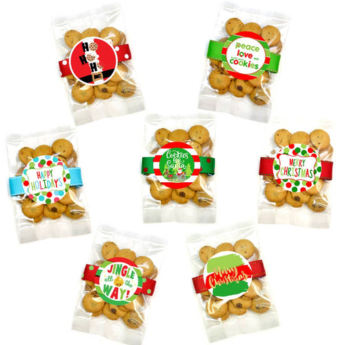 Christmas/Holiday Chocolate Chip Cookie Grab Bag Assortment