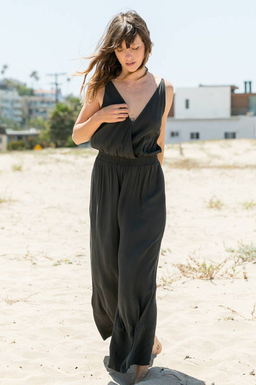 Pleated Waist Jumpsuit