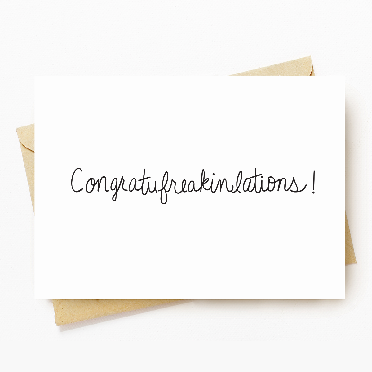 """Congrats"" Motivational Greeting Card"