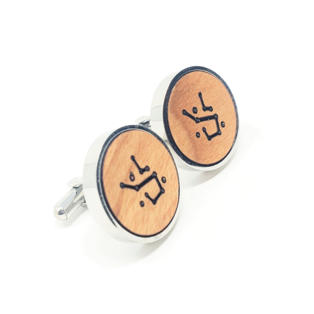 Constellation Stainless and Wood Cufflinks
