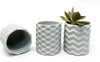 Geometric Concrete Cups