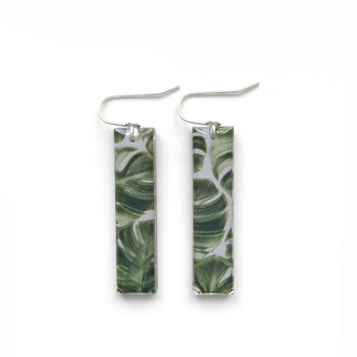 Black Drop Designs - Mirror Tall Palm One Earrings