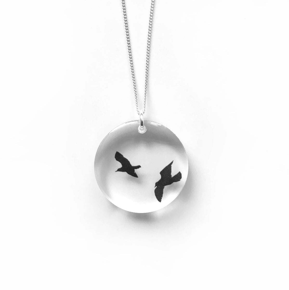 Black Drop Designs - Round Birds Necklace