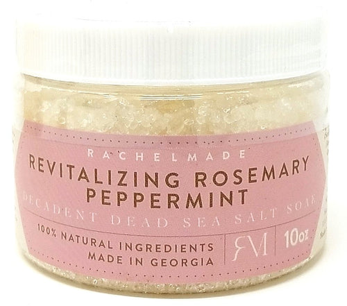 Revitalizing Rosemary Peppermint Decadent Dead Sea Salt Soak