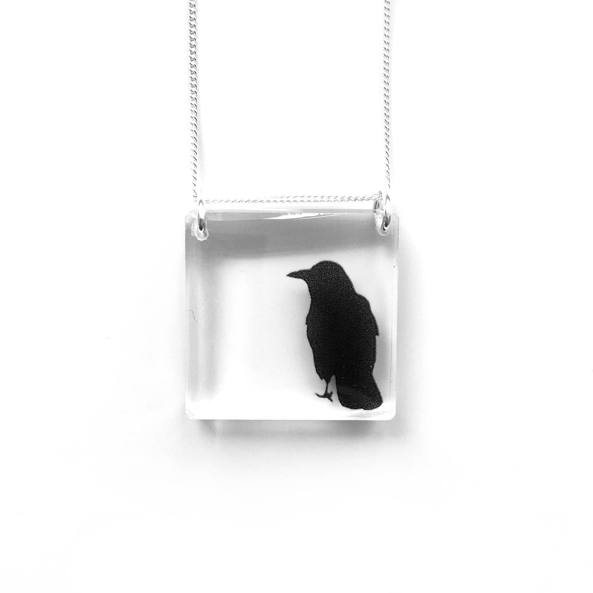 Square Crow Necklace