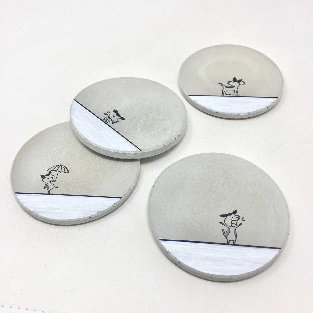Dog Concrete Coasters