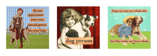 "magnet set by ian nicholas - ""Dog lovers"""