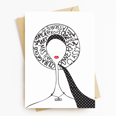 """Dope Lady"" Motivational Greeting Card"