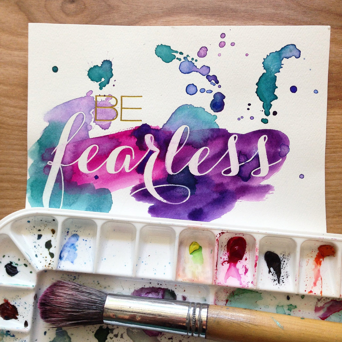 Hand-Lettering +Watercolor 101