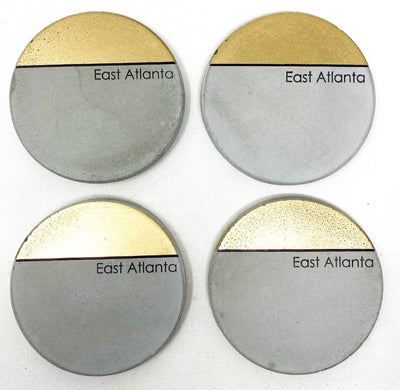 ATL Neighborhood Concrete Coasters