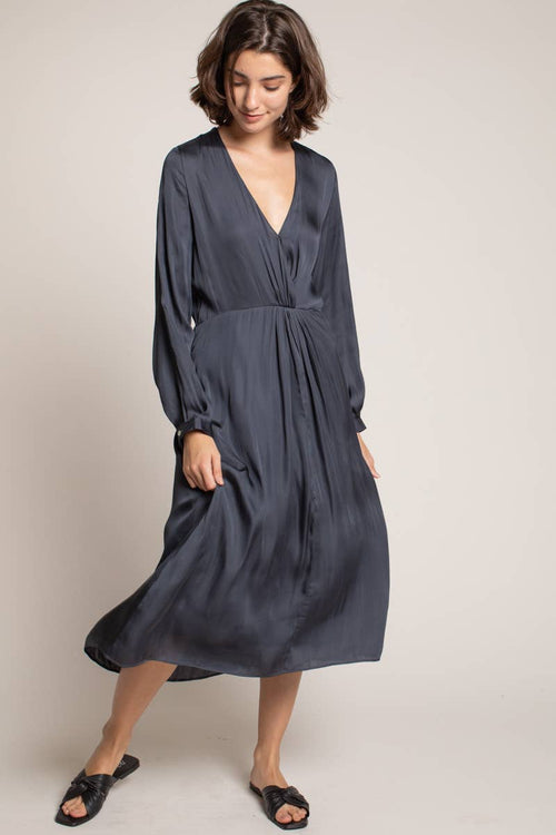 Eclipse Front Twist Midi Dress