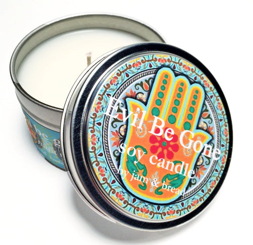Evil be gone soy candle by Jam & Bread