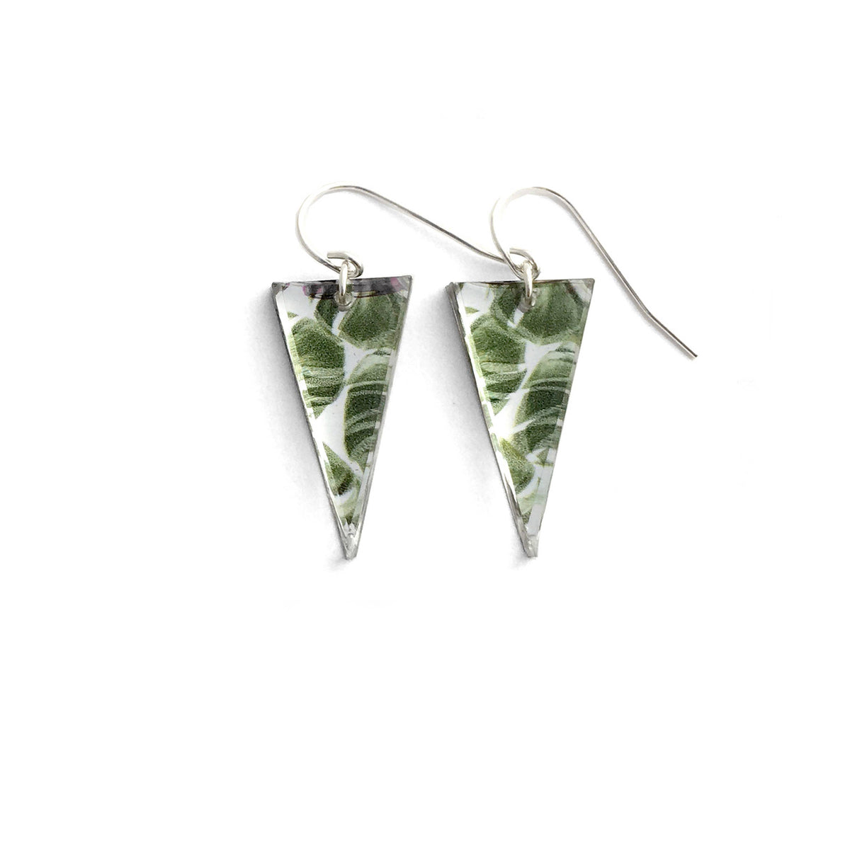 Black Drop Designs - Mirror Triangle Palm One Earrings