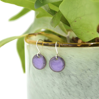 Mini Circle Enamel Earrings