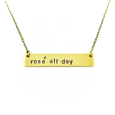 Rosé All Day Bar Necklace